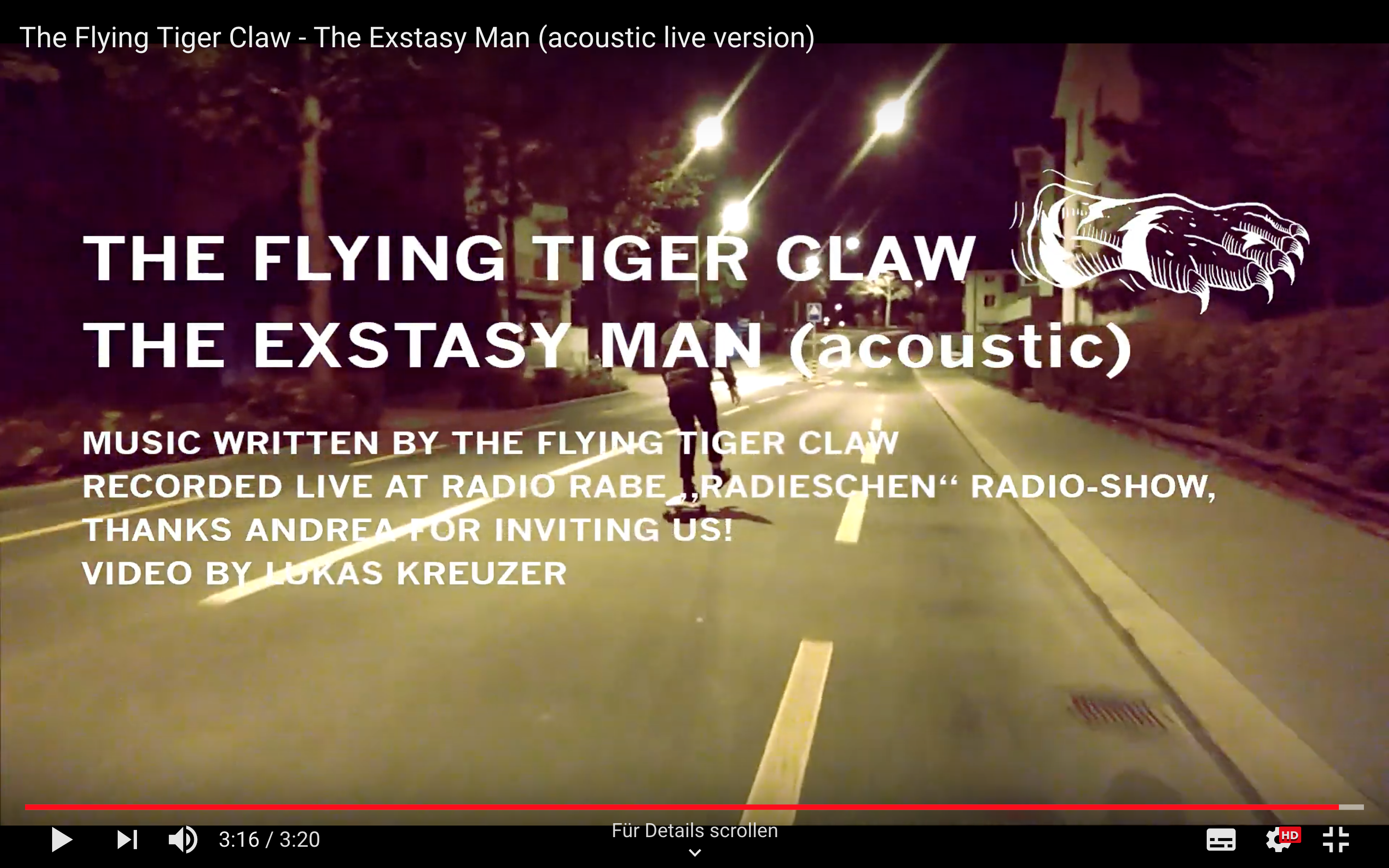 The Flying Tiger Claw - Extasy Man