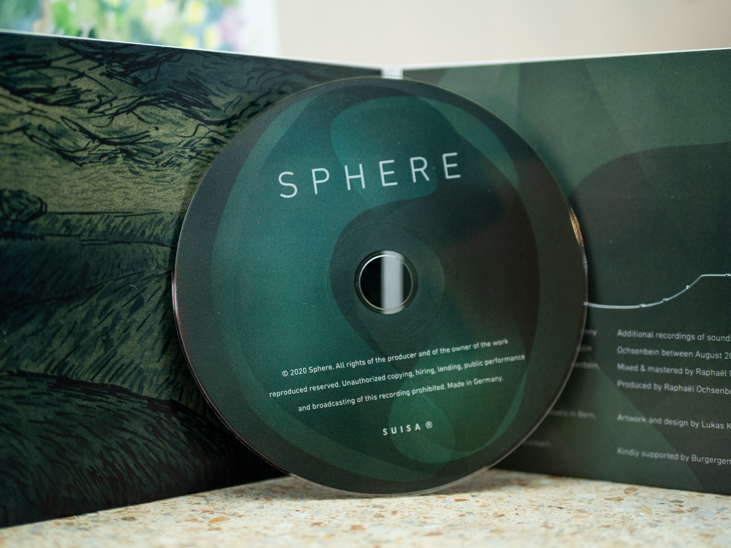 Sphere, cover design for CD